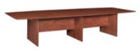 "Sandia 144"" Boat Shape Modular Conference Table featuring Lockdowel Assembly - Cherry"