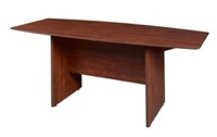 "Sandia 71"" Boat Shape Conference Table featuring Lockdowel Assembly - Cherry"