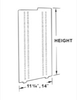 SHELF SUPPORT 38X12 KIT OF 2