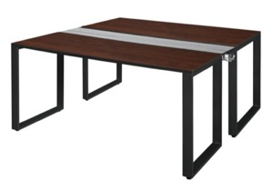 "Structure 60"" x 24"" Benching System  - Cherry/ Black"