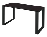 "Structure 42"" x 24"" Training Table - Mocha Walnut/Black"