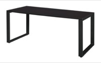 "Structure 60"" x 30"" Training Table - Mocha Walnut/Black"
