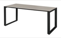"Structure 60"" x 30"" Training Table - Maple/Black"