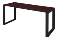 "Structure 66"" x 24"" Training Table - Mahogany/Black"