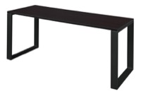 "Structure 66"" x 24"" Training Table - Mocha Walnut/Black"