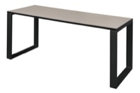 "Structure 66"" x 24"" Training Table - Maple/Black"