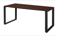 "Structure 66"" x 30"" Training Table - Cherry/Black"