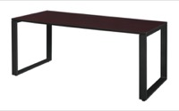 "Structure 66"" x 30"" Training Table - Mahogany/Black"