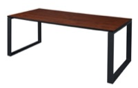 "Structure 66"" x 36"" Training Table - Cherry/Black"
