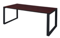 "Structure 66"" x 36"" Training Table - Mahogany/Black"