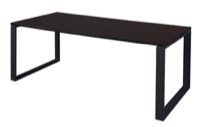 "Structure 66"" x 36"" Training Table - Mocha Walnut/Black"