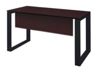 "Structure 42"" x 24"" Training Table with Modesty Panel - Mahogany/Black"