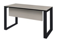 "Structure 42"" x 24"" Training Table with Modesty Panel - Maple/Black"
