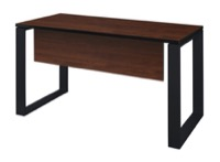 "Structure 48"" x 24"" Training Table with Modesty Panel - Cherry/Black"