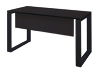 "Structure 48"" x 24"" Training Table with Modesty Panel - Mocha Walnut/Black"