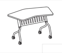 "Mayline Sync Training Table - SYT30T - 48"" x 30"" - Transition"