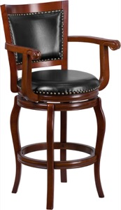 Wood Barstools Swivel Seat