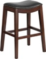 Wood Barstools Saddle Seat