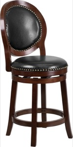 Wood Counter Height Stools Swivel Seat