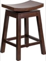 Wood Counter Height Stools Saddle Seat