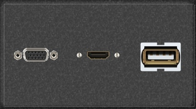 Mayline TransAction Conference Table Telecom Panel HDMI USB HD VGA - Conference table hdmi port