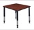 "Kee 30"" Square Height Adjustable Classroom Table  - Cherry"