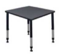 "Kee 30"" Square Height Adjustable Classroom Table  - Grey"