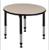 "Kee 30"" Round Height Adjustable Classroom Table  - Beige"