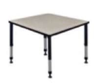 "Kee 36"" Square Height Adjustable Classroom Table  - Maple"