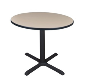 "Cain 36"" Round Breakroom Table - Beige"