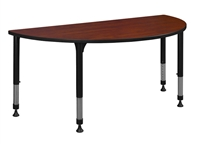 "Kee Classroom Table - 42"" x 21"" Half Round Height Adjustable"