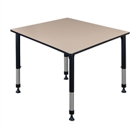 "Kee Classroom Table - 48"" Square Height Adjustable"