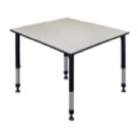 "Kee 48"" Square Height Adjustable Classroom Table  - Maple"