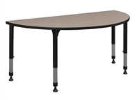 "Kee Classroom Table - 48"" x 24"" Half Round Height Adjustable"