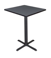 "Cain 30"" Square Cafe Table - Grey"