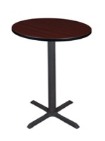 "Cain 30"" Round Cafe Table - Mahogany"