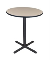 "Cain 36"" Round Cafe Table - Beige"