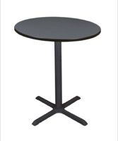 "Cain 36"" Round Cafe Table - Grey"