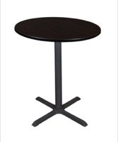 "Cain 36"" Round Cafe Table - Mocha Walnut"