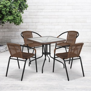 Glass Patio Table and Chair Sets