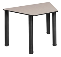"Trapezoid 36"" x 23"" x 19"" Desk  - Maple/ Black"