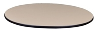 "30"" Round Slim Table Top - Beige/ Grey"