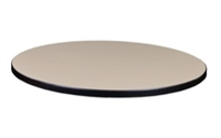 "30"" Round Laminate Table Top - Beige/ Grey"