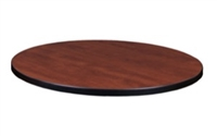 "30"" Round Laminate Table Top - Cherry/ Maple"