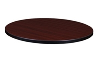"30"" Round Laminate Table Top - Mahogany/ Mocha Walnut"