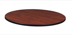 "36"" Round Laminate Table Top - Cherry/ Maple"