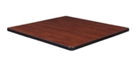 "30"" Square Laminate Table Top - Cherry/ Maple"