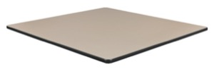 "36"" Square Slim Table Top - Beige/ Grey"