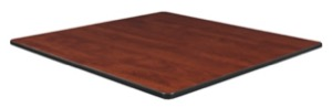 "36"" Square Slim Table Top - Cherry/ Maple"