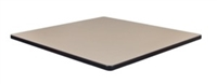 "36"" Square Laminate Table Top - Beige/ Grey"